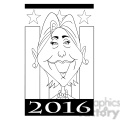 hillary 2016 vote in black and white  gif, png, jpg, eps, svg, pdf