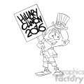 kid holding a hillary 2016 sign in black and white  gif, png, jpg, eps, svg, pdf