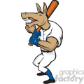 donkey baseball player batting front  gif, png, jpg, eps, svg, pdf