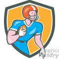 american football rusher run OL SHIELD