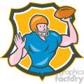 american football quarterback throwing ol shield  gif, png, jpg, eps, svg, pdf