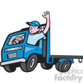 flatbed truck driver wave iso  gif, png, jpg, eps, svg, pdf