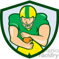 american football running back front ol shield  gif, png, jpg, eps, svg, pdf