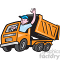 dump truck driver wave iso  gif, png, jpg, eps, svg, pdf
