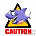 caution sharks in the area