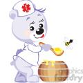 teddy bear doctor with honey