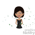 Girl with Leaves cartoon character vector image