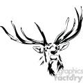 black and white Elk antlers