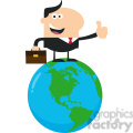 8365 Royalty Free RF Clipart Illustration The Best Manager On The World Flat Style Vector Illustration