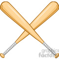 two crossed baseball bats  gif, png, jpg, eps, svg, pdf