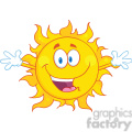 Royalty Free RF Clipart Illustration Happy Sun With Welcoming Open Arms