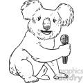 koala mike vector RF clip art images