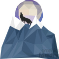 wolf and moon geometry geometric polygon vector graphics rf clip art images  gif, png, jpg, eps, svg, pdf