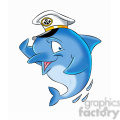 dallas the cartoon dolphin wearing a captain hat  gif, png, jpg, eps, svg, pdf