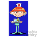 betty the cartoon nurse holding medicine tray  gif, png, jpg, eps, svg, pdf