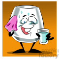 larry the cartoon glass character drinking water  gif, png, jpg, eps, svg, pdf