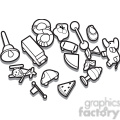 outline of toys illustration graphic