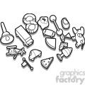 outline of toys illustration graphic  gif, png, jpg, eps, svg, pdf