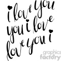 i love you calligraphy typography illustration  gif, png, jpg, eps, svg, pdf