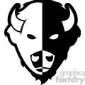 bison buffalo logo icon design black white split  gif, png, jpg, eps, svg, pdf