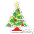 christmas tree sticker v9  gif, png, jpg, eps, svg, pdf