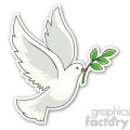 christmas dove sticker