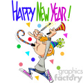 happy new year celebration vector cartoon art