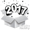 2017 new year exploding from a box vector art  gif, png, jpg, eps, svg, pdf