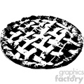 vector fresh baked pie black and white art