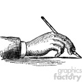 vintage right hand writing with a pen vector vintage 1900 vector art GF