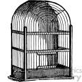 vintage bird cage vector vintage 1900 vector art GF