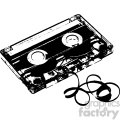 cassette tape music mix tape vector silhouette