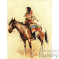 frederic remington vector art breed horse and indian vector art GF