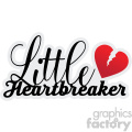 little heartbreaker svg cut file  gif, png, jpg, eps, svg, pdf