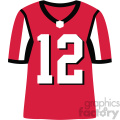 falcons football jersey vector svg cut files art