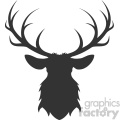 deer head silhouette vector art