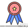 Ribbon trophy flat vector icon design