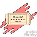Movie ticket flat vector icon design