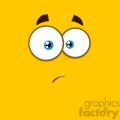 10902 Royalty Free RF Clipart Surprisingly Cartoon Square Emoticons With Expression Vector With Yellow Background