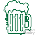 beer mug St Patricks Day flat vector design GF