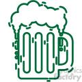 beer mug st patricks day flat vector design gf  gif, png, jpg, eps, svg, pdf