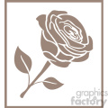 outline of rose svg cut file