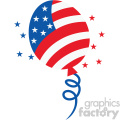 4th of july party balloon vector icon
