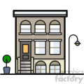 Apartment block clip art vector images