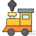 Train vector clip art images
