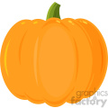 Pumpkin Fruit Cartoon Flat Simple Design Vector Illustration Isolated On White Background