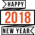 2018 happy new year ribbon