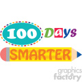 100 days of school pencil vector art