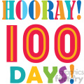 hooray 100 days of school vector art