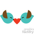 love birds valentines vector icon